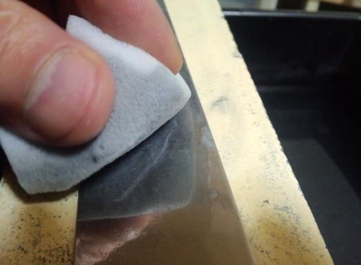 包丁の磨き方(鏡面仕上げ)