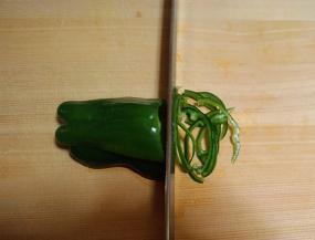 中華料理に向く野菜の切り方